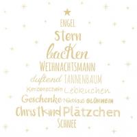 Servietten 33x33 cm - Weihnachtszeit gold