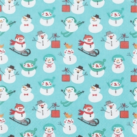 Lunch Servietten Snowman Pattern