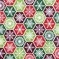 Servietten 33x33 cm - Snowflake Comb classic
