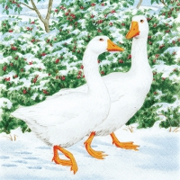Servietten 33x33 cm - Geese Couple
