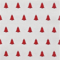 Servietten 33x33 cm - Linen Trees red
