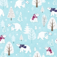 Servietten 33x33 cm - Cute Polar Bears