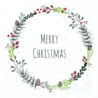 Servietten 33x33 cm - Lucia: Merry Christmas
