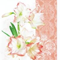 Servietten 33x33 cm - Lovely Amaryllis