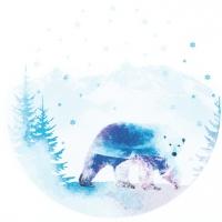 Servietten 33x33 cm - Polar Bear