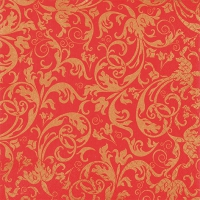 Servietten 33x33 cm - Arabesque red/gold