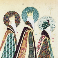 Servietten 33x33 cm - Three Kings