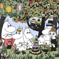 Servietten 33x33 cm - Party Moomin