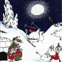 Servietten 33x33 cm - Winter Moomin db