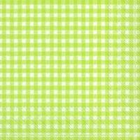 Servietten 25x25 cm - VICHY hellgrün