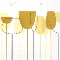 Cocktail Servietten CHEERS gold