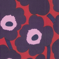 Servietten 25x25 cm - UNIKKO red blue