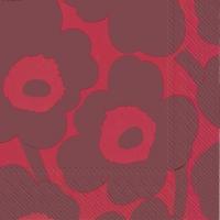 Servietten 25x25 cm - UNIKKO red red