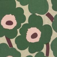 Servietten 25x25 cm - UNIKKO green rose
