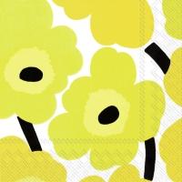Servietten 25x25 cm - UNIKKO yellow