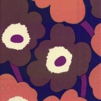 Servietten 25x25 cm - UNIKKO violettes Kupfer