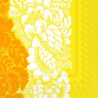 Servietten 25x25 cm - ANANAS yellow