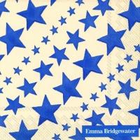Servietten 25x25 cm - NEUE STARRY SKIES blau
