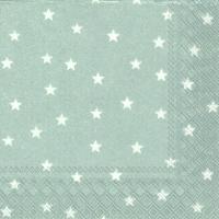 Servietten 25x25 cm - LITTLE STARS silver