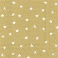 Servietten 25x25 cm - LITTLE STARS gold white