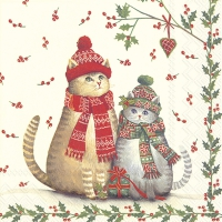 Servietten 25x25 cm - CHRISTMAS CATS
