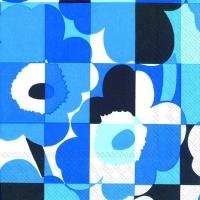 Servietten 25x25 cm - MINI-RUUTU-UNIKKO blau