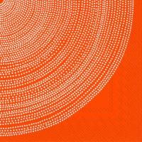 Servietten 25x25 cm - FOKUS orange