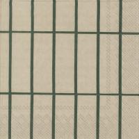 Servietten 25x25 cm - TIILISKIVI linen green