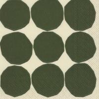 Servietten 25x25 cm - KIVET weiß grün