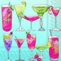 Cocktail Servietten SWEET COCKTAILS blue