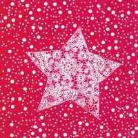 Servietten 25x25 cm - CHRISTMAS LACE red