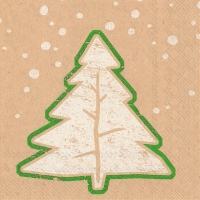 Servietten 25x25 cm - fir tree