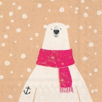 Servietten 25x25 cm - captain polar bear