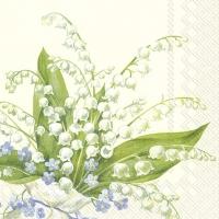 Servietten 25x25 cm - CONVALLARIA cream