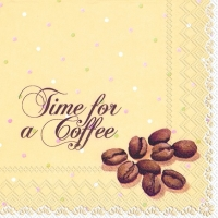 Servietten 25x25 cm - TIME FOR A COFFEE cream