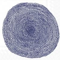 Servietten 25x25 cm - PIPPURIKERÄ white blue