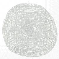 Servietten 25x25 cm - PIPPURIKERÄ white silver
