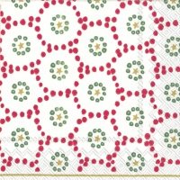 Servietten 25x25 cm - WINTER DOTTY red