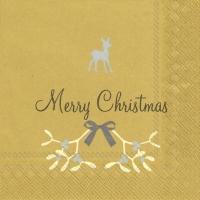 Cocktail Servietten SWEET MERRY CHRISTMAS gold