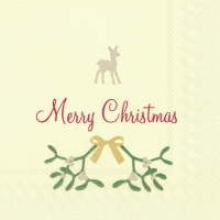 Servietten 25x25 cm - SWEET MERRY CHRISTMAS cr. red