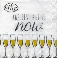 Cocktail Servietten The best age gold