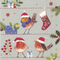 Cocktail Servietten MERRY LITTLE X-MAS linen