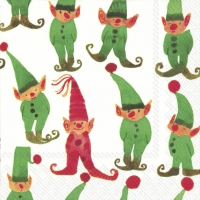 Servietten 25x25 cm - LITTLE ELVES