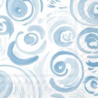 Servietten 25x25 cm - HAPPY CIRCLES hellblau