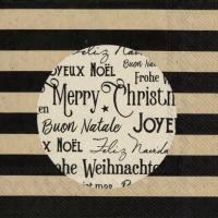 Servietten 25x25 cm - christmas circle