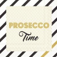 Servietten 25x25 cm - PROSECCO TIME gold