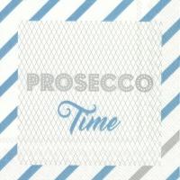 Servietten 25x25 cm - PROSECCO TIME turquoise