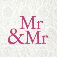 Servietten 25x25 cm - MR & MR rosa