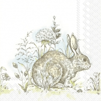Servietten 25x25 cm - EASTER MORNING white