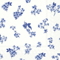 Servietten 25x25 cm - BELLINA weiß blau
